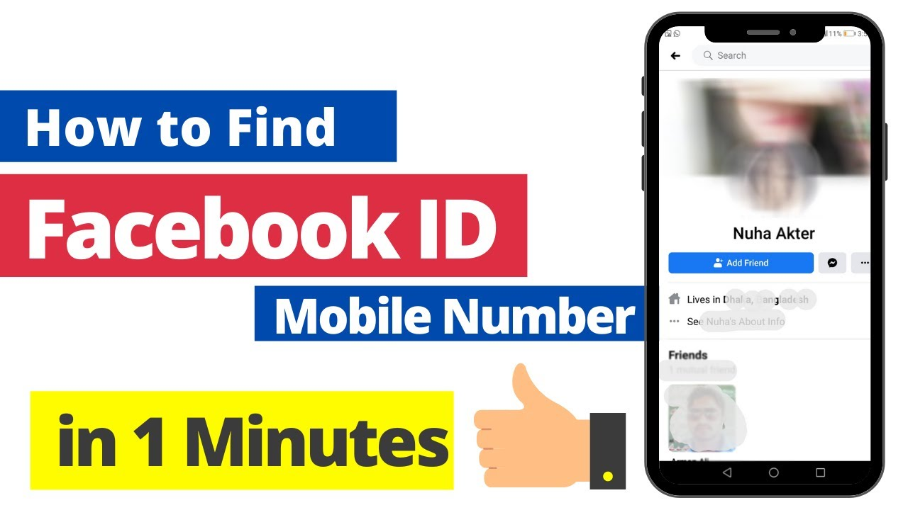 Id number with facebook login Phone number
